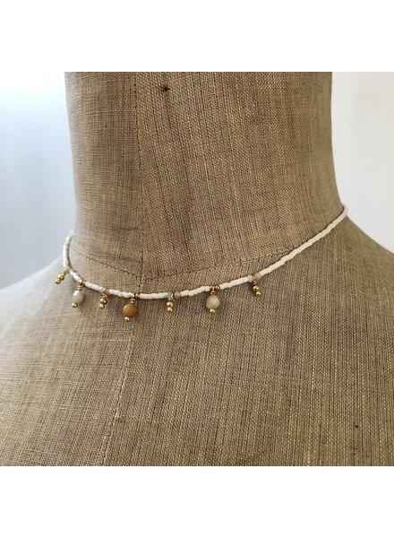 Cream necklace 2