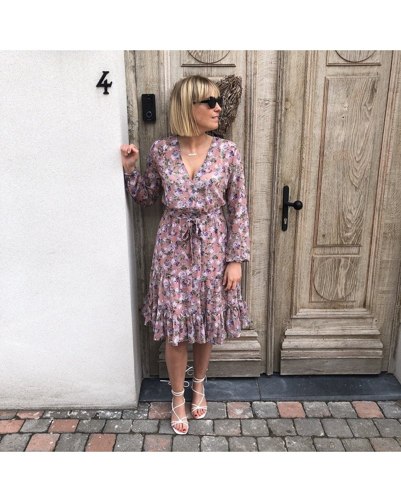 NA-KD purple floral midi dress