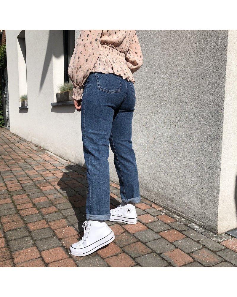 NA-KD high waist straight jeans
