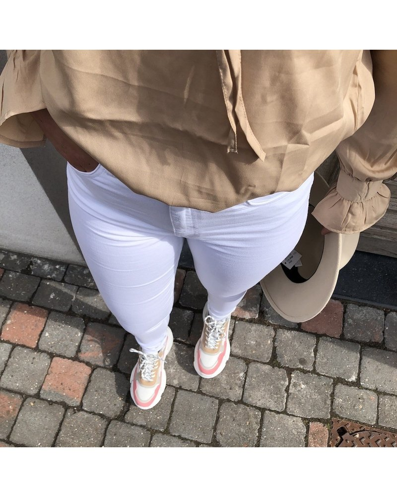 NA-KD pink/white/beige colored sneakers