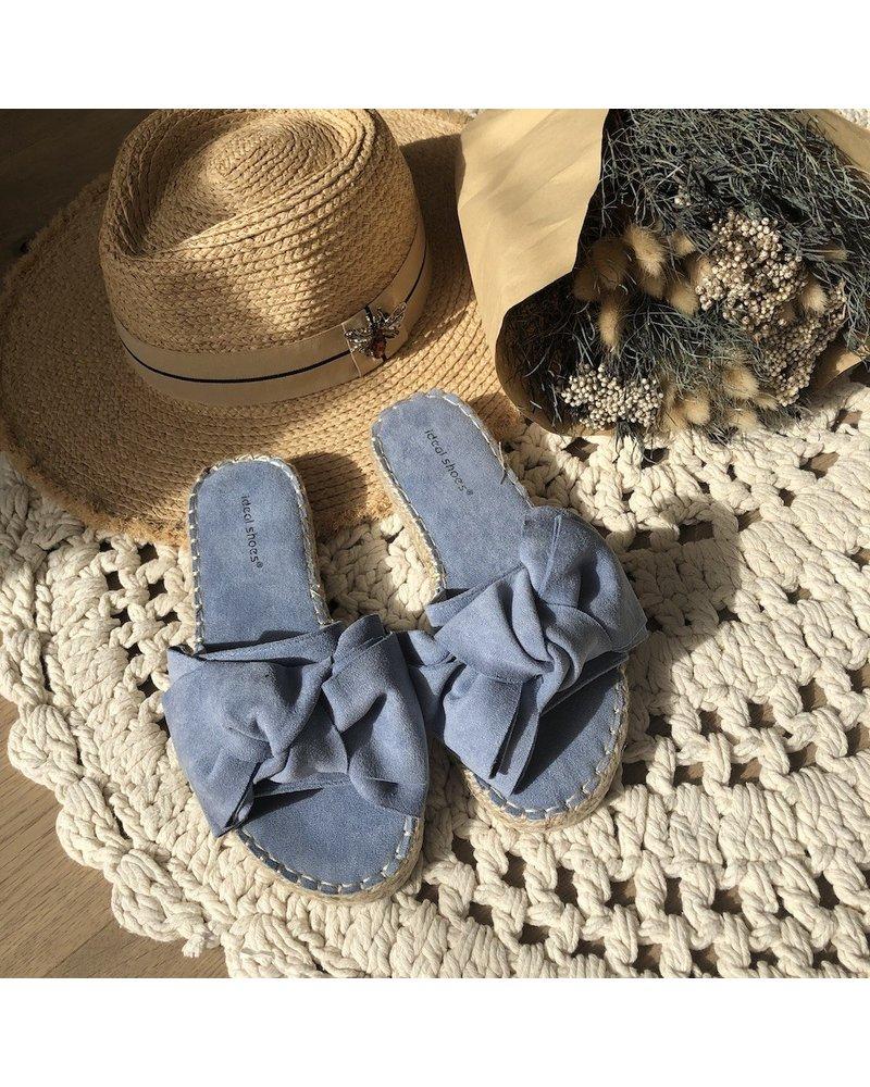 Slippers jeansblauw