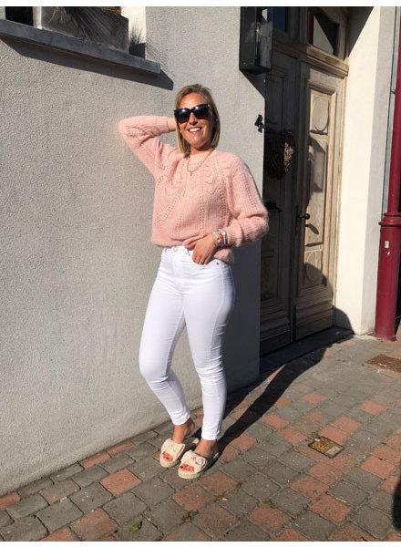 Soft summer knit soft pink