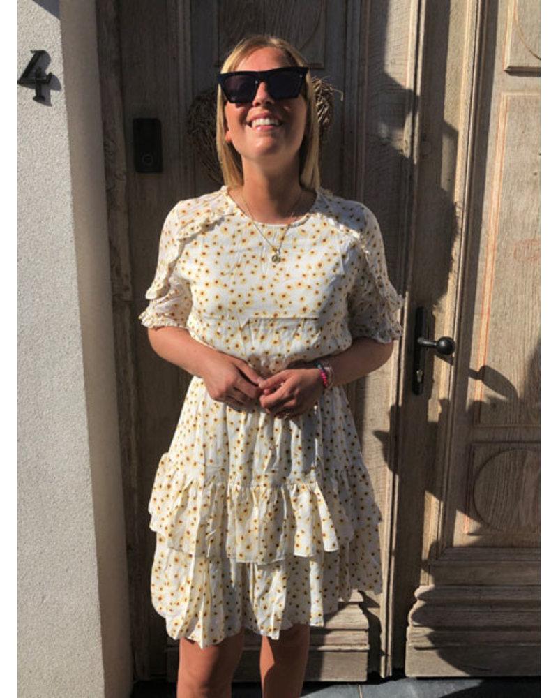 White sunflower dress