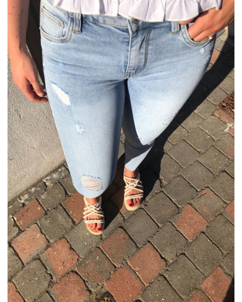 Skinny jeans light blue
