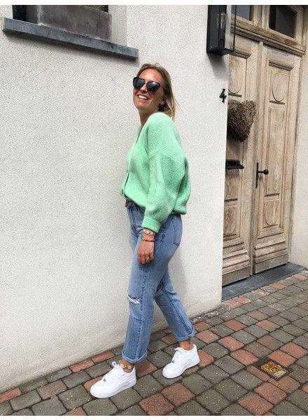 Soft jacket flashy green