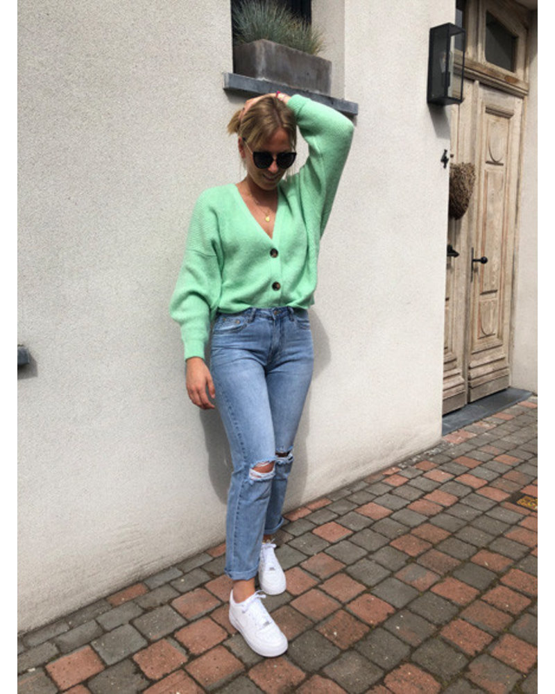 Soft jacket flashy green