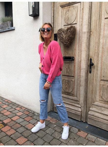 Soft jacket hot pink