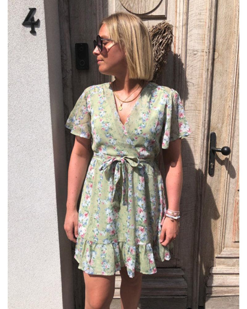 Light green flowered dress
