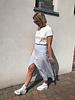 Daisy skirt light blue