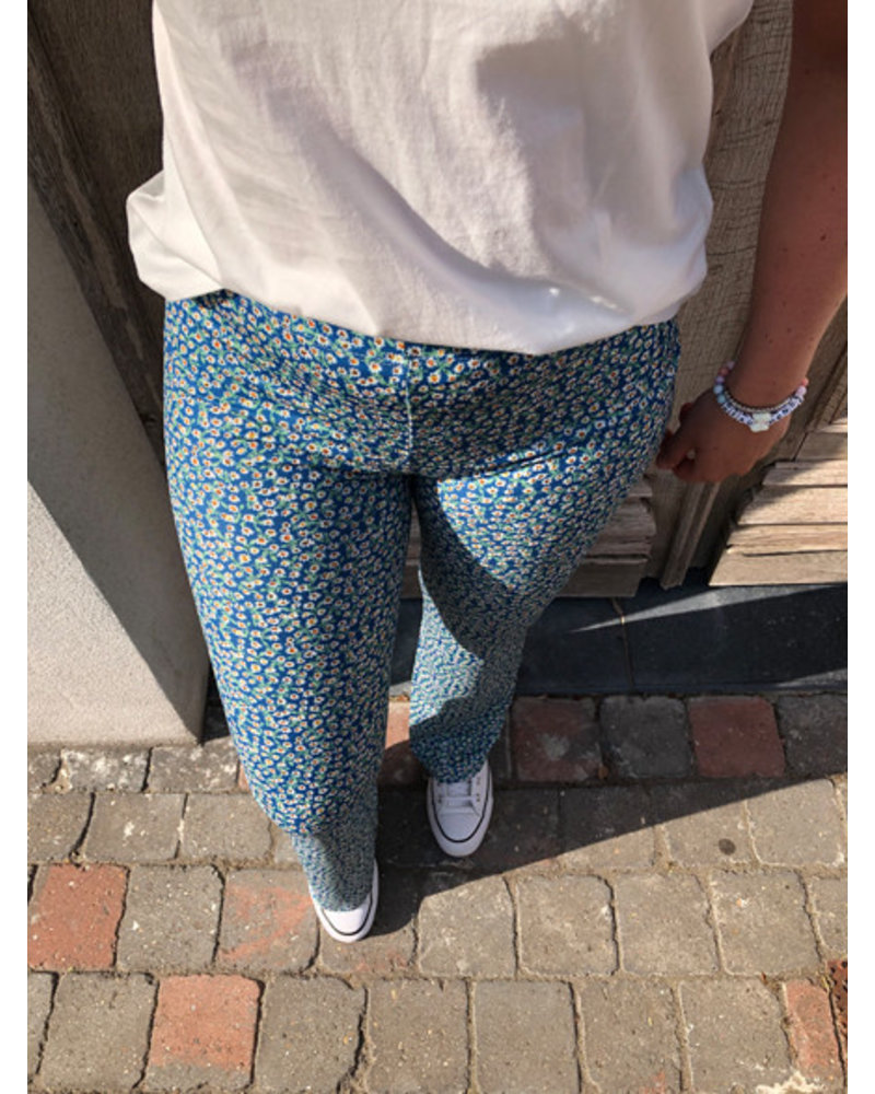 Floral trousers blue