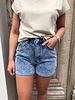 NA-KD folded hem denim shorts
