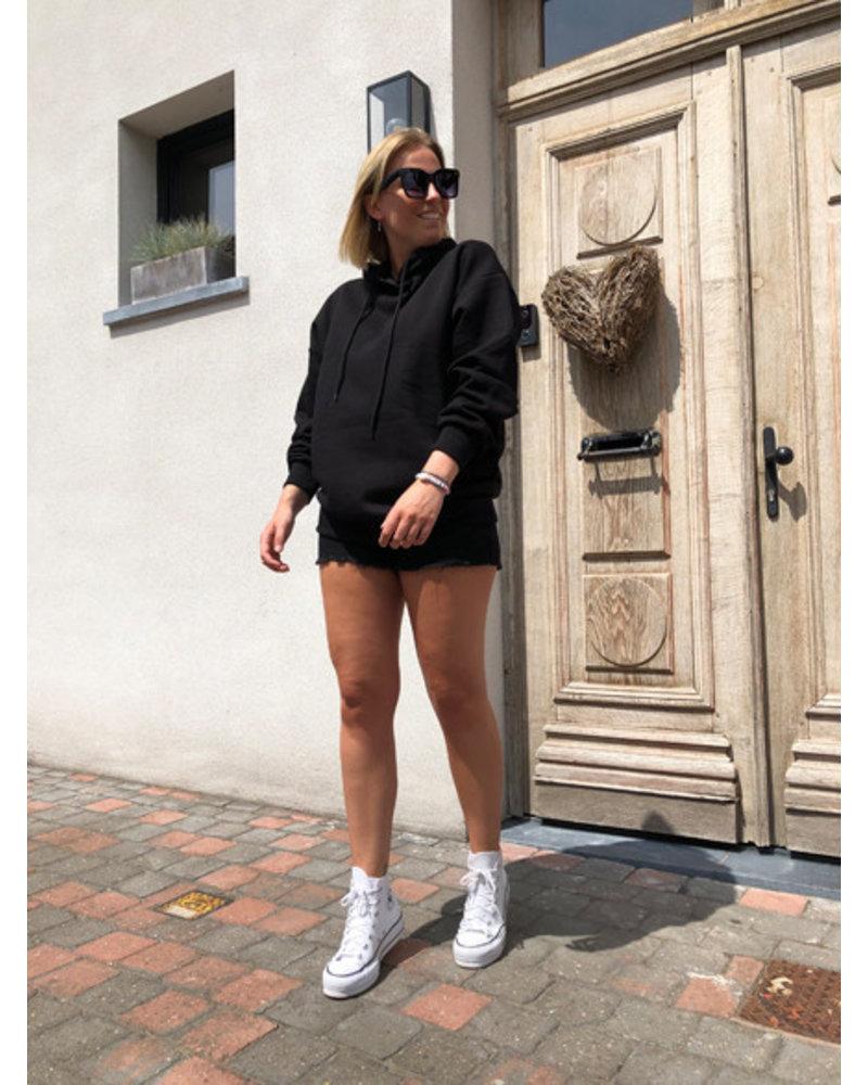 NA-KD short denim shorts black