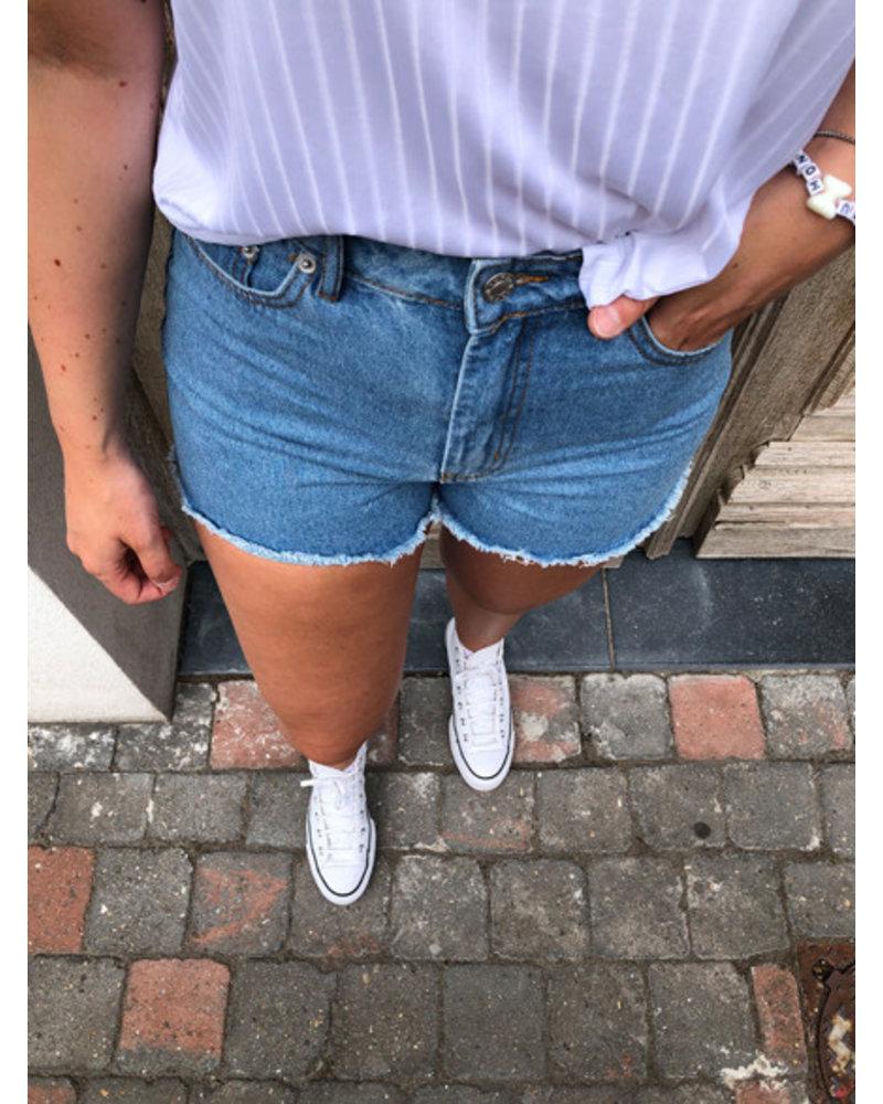 NA-KD short denim shorts light blue