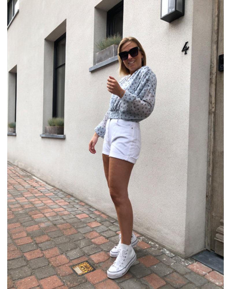NA-KD smocked waist loose blouse