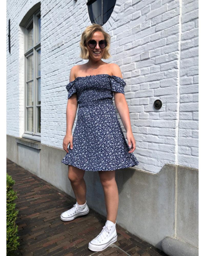 Navy flower dress