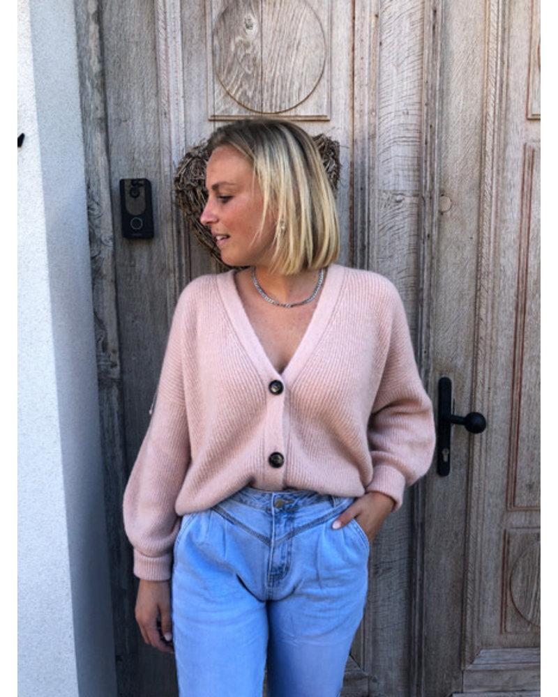 Soft jacket beige pink