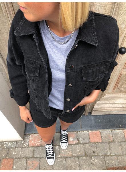 Black oversized jeansjacket