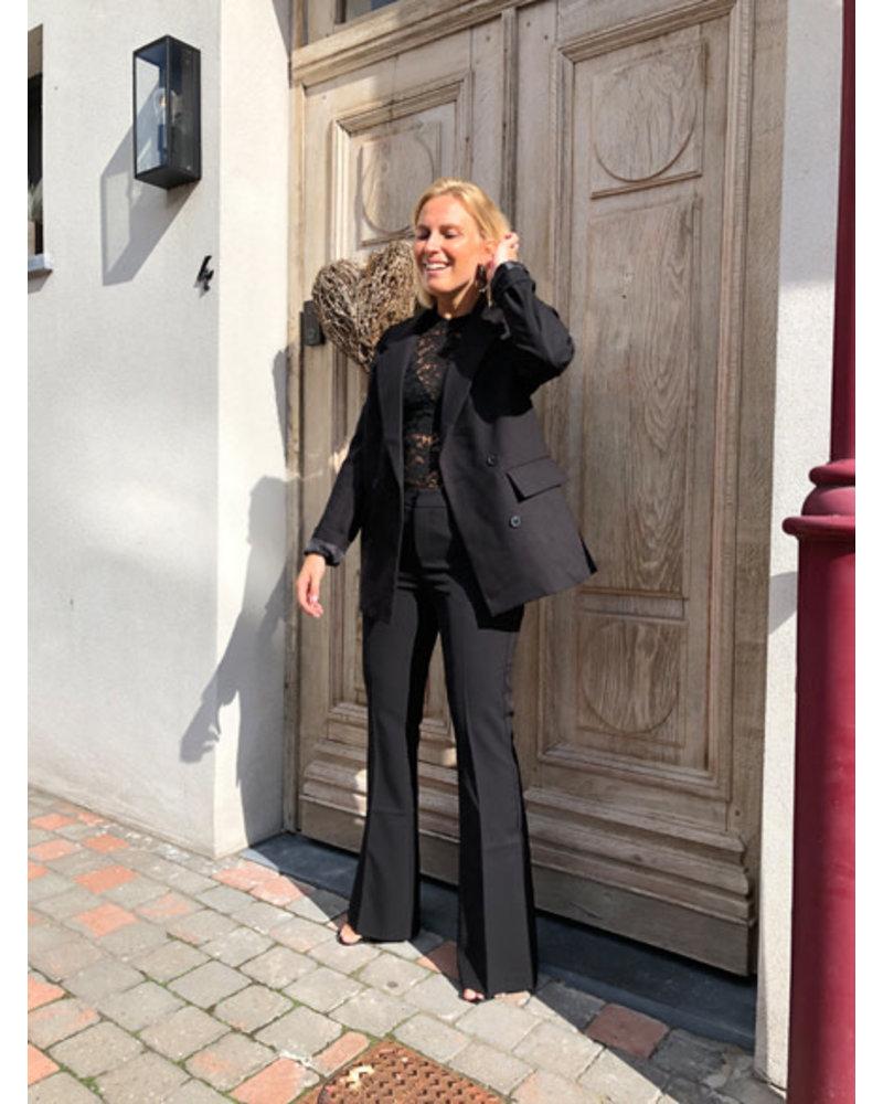 Flared trousers black