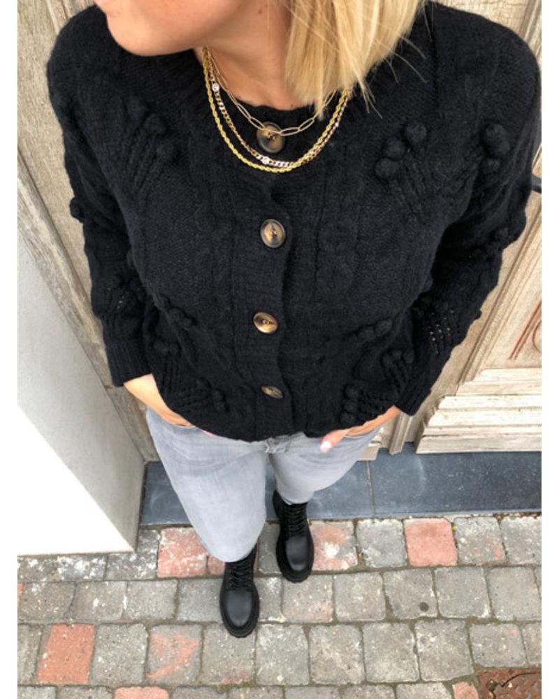 Super soft black detail jacket