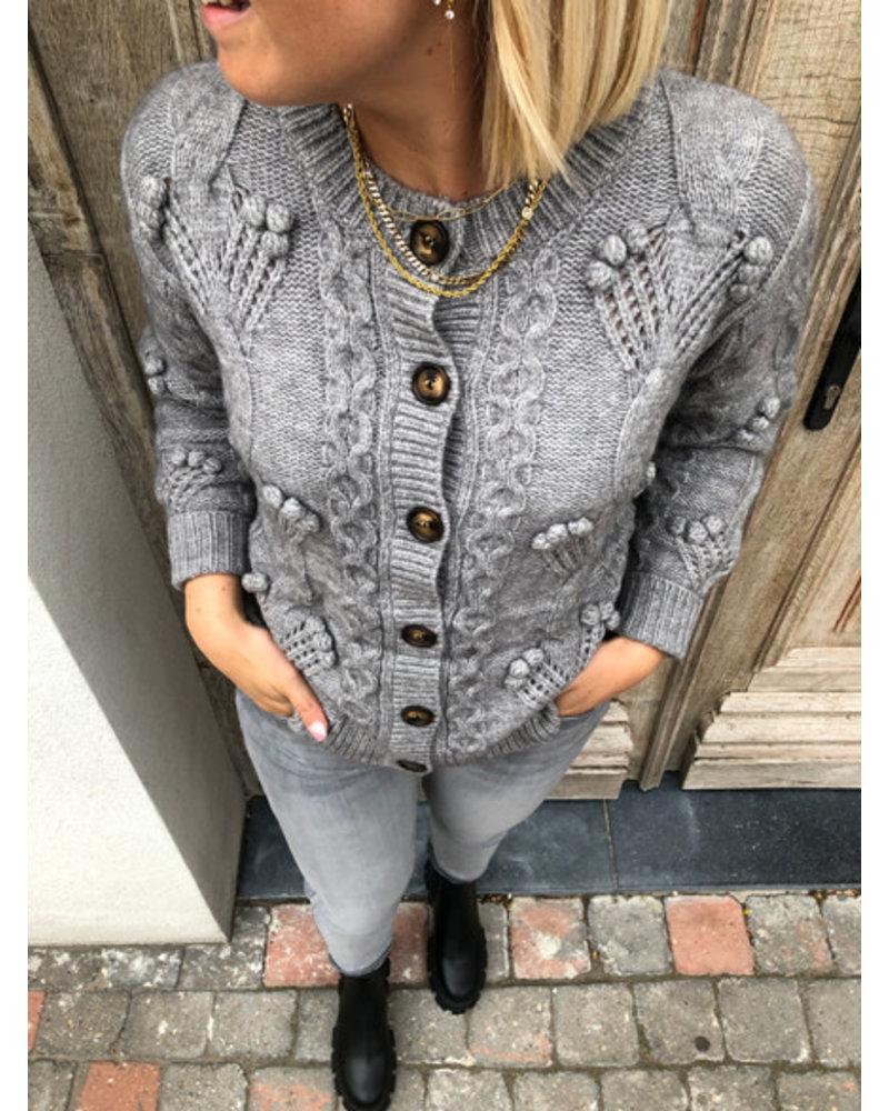 Super soft grey detail jacket