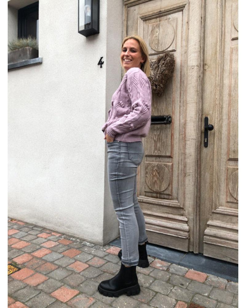 Super soft lilac detail jacket