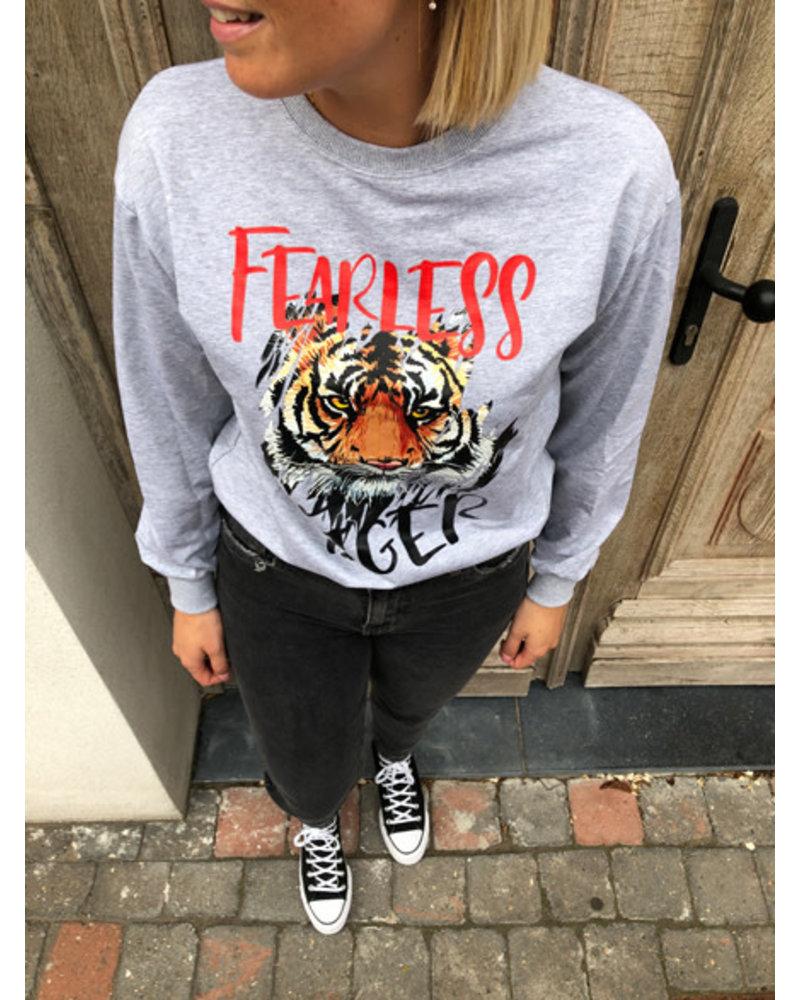 Tiger sweater grey