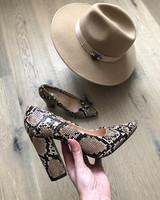 Snake heels camel