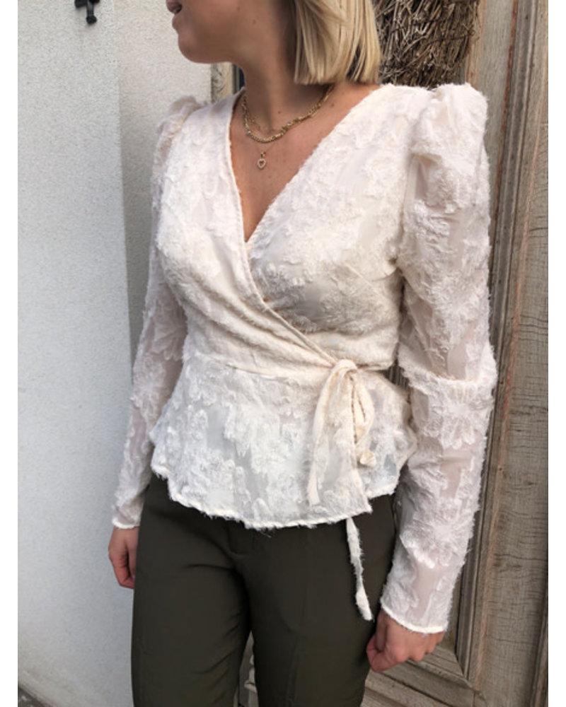 Fluffy blouse vanilla