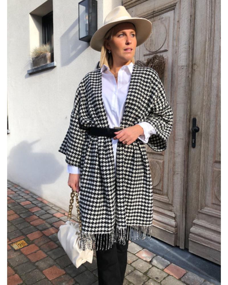 Grace jacket black/white