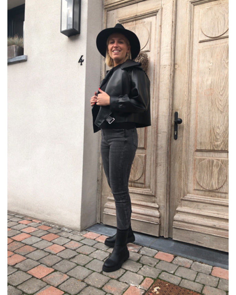 Jade leather jacket