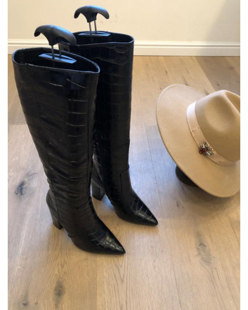 Grace boots croco black