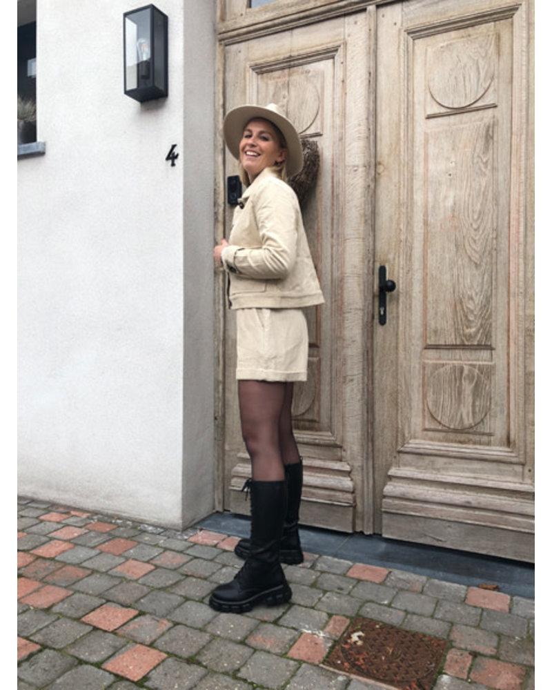 Beige jacket corduroy