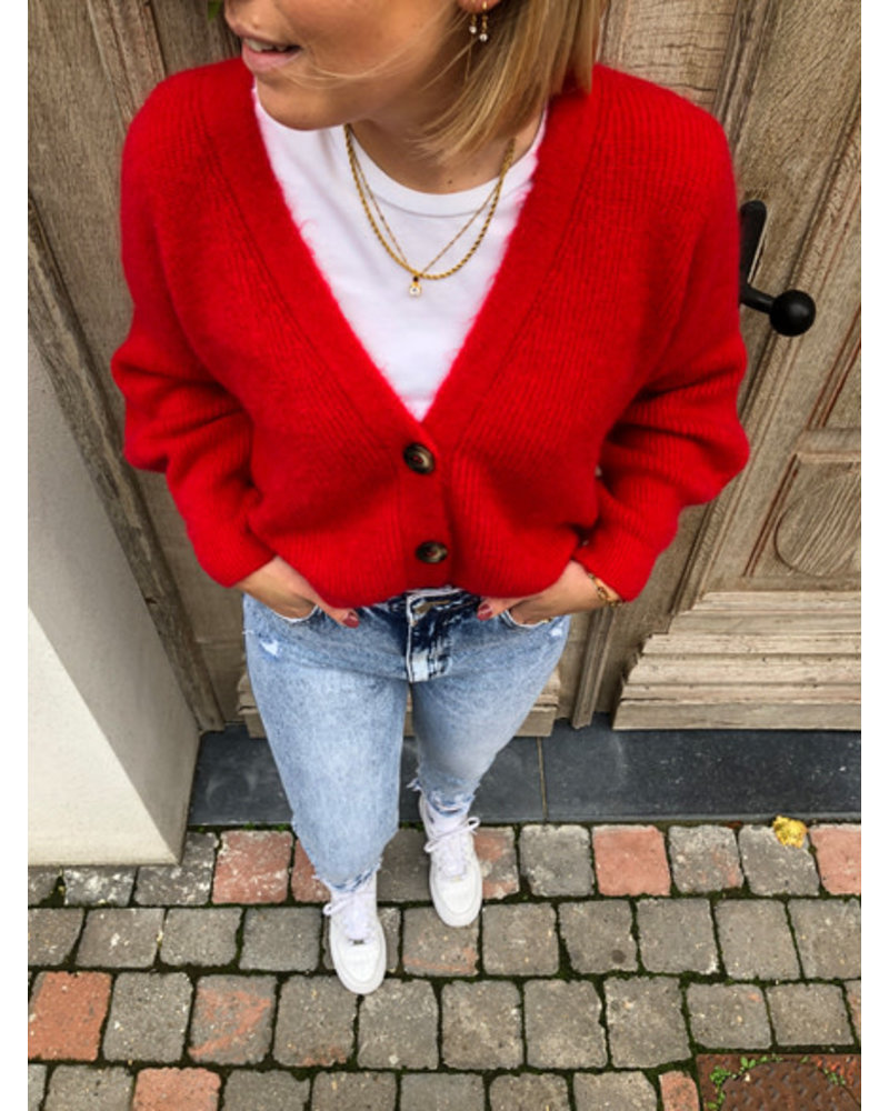 Soft jacket red