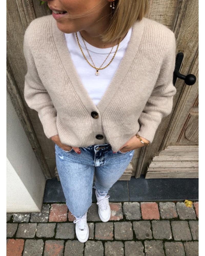 Soft jacket almond