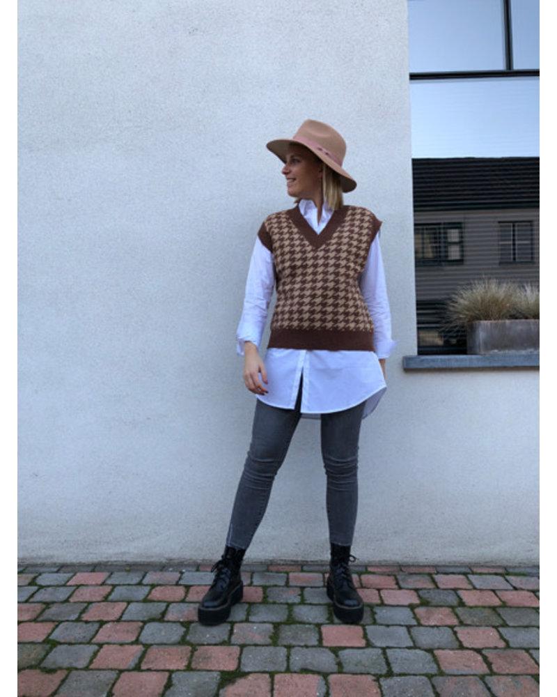 Eloise debardeur camel/brown