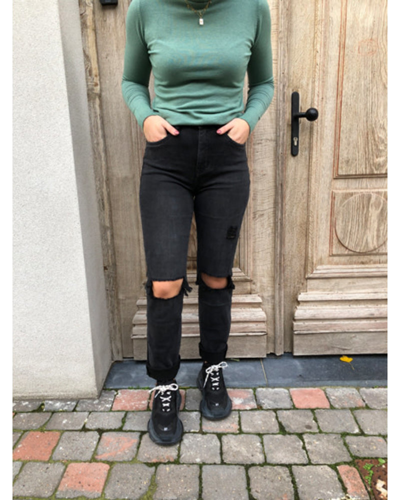 Dark grey ripped jeans