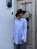 Long classic white blouse