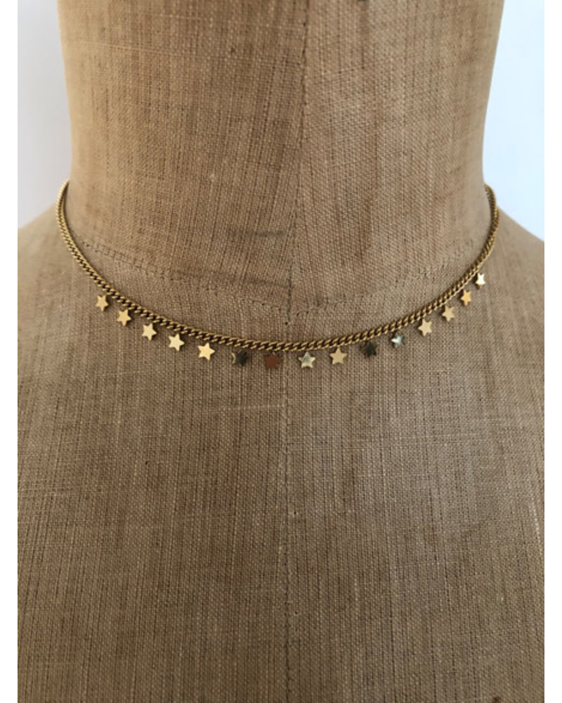 Necklace stars gold