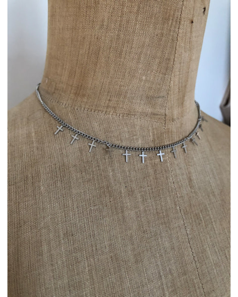 Necklace cross silver