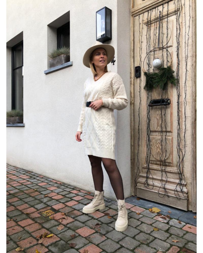 Winter dress cream