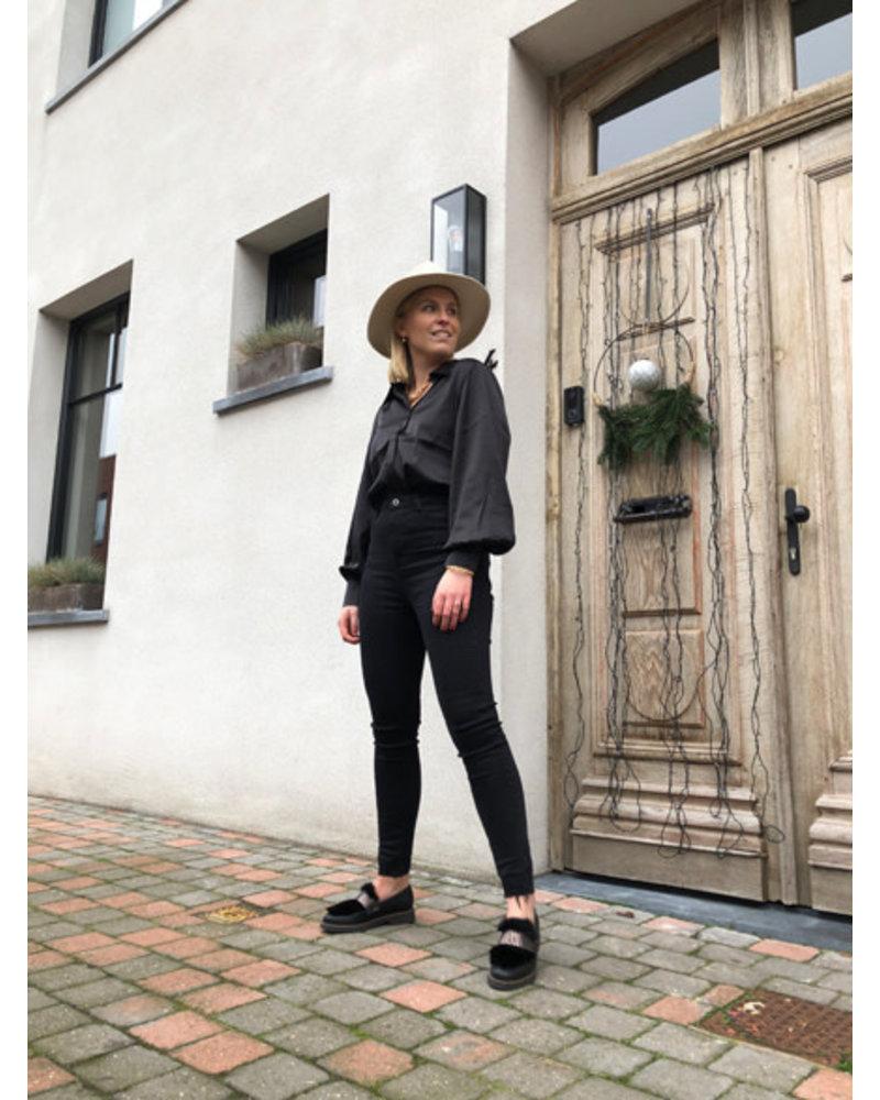 Diana high waist jeans black