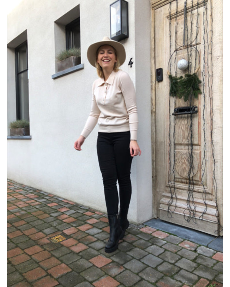 Megan polo jumper cream