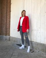 Elena blazer red