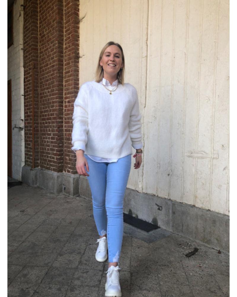 Elena knit white