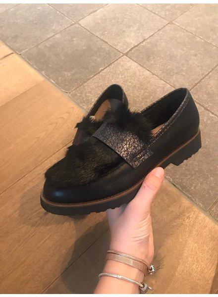 Moccassin faux-fur black