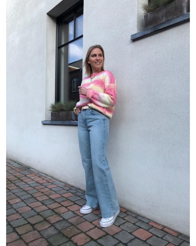 Eliza jumper yellow/pink