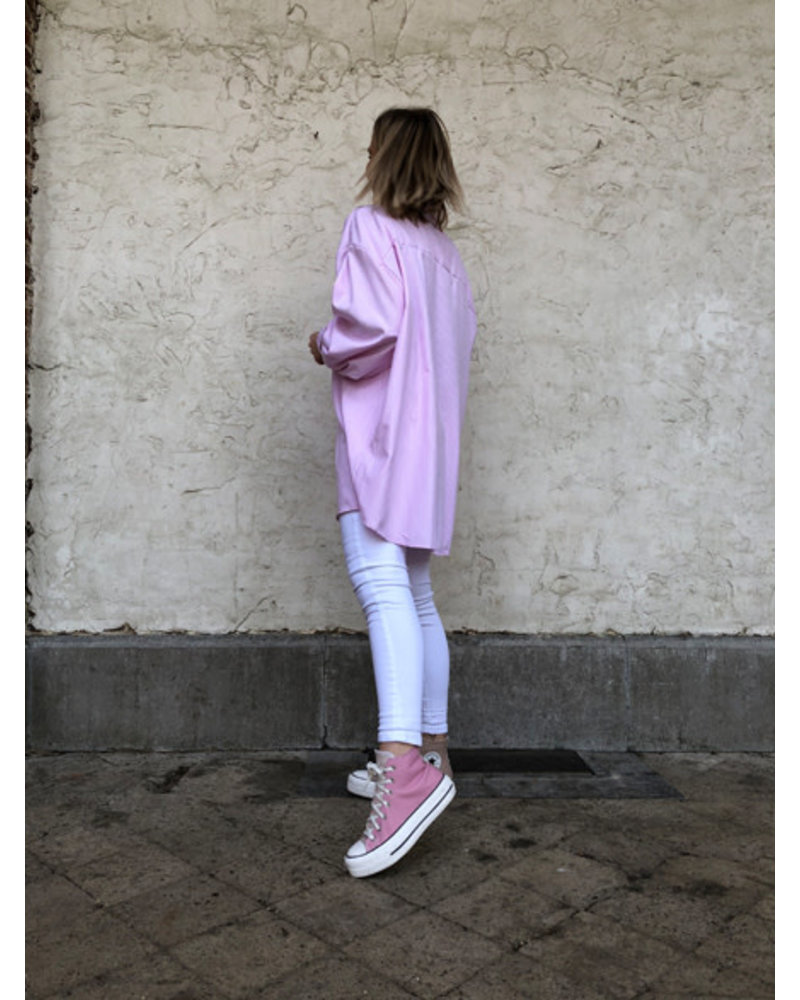 Lou oversized blouse pink