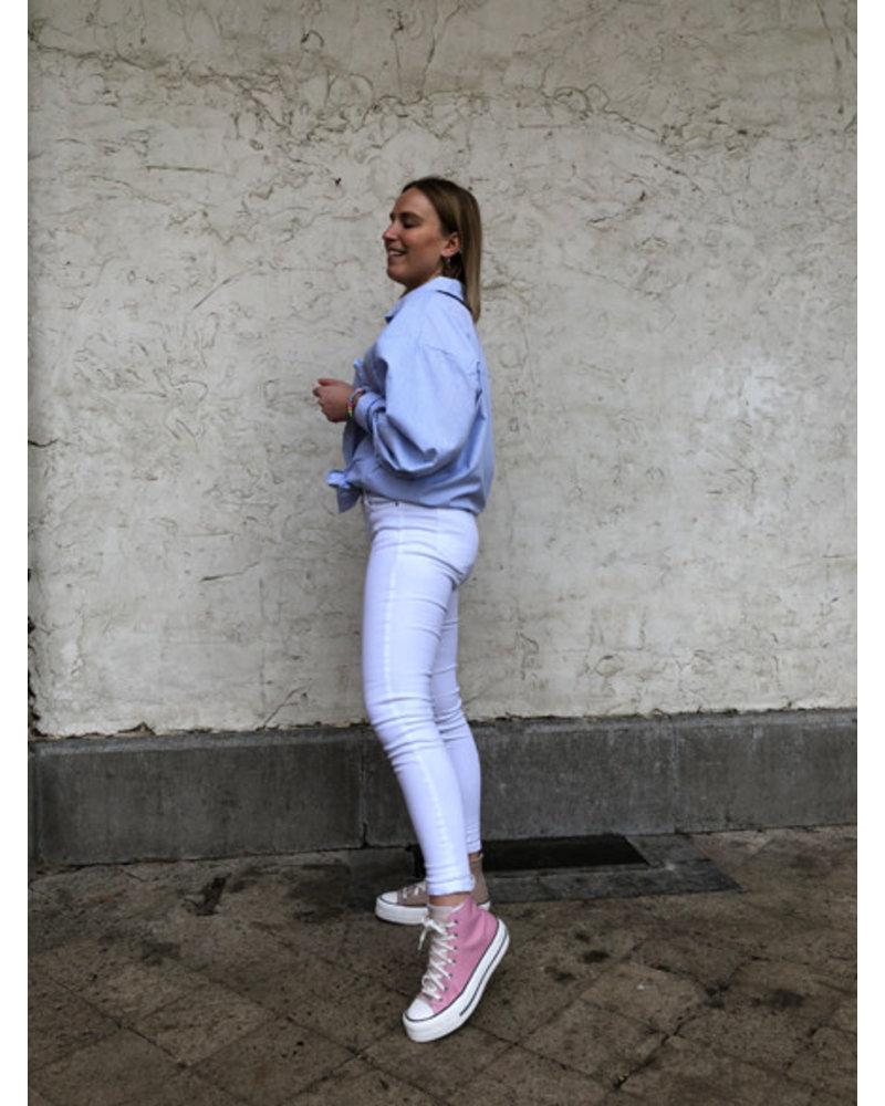 Lou oversized blouse light blue