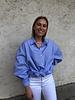 Lou oversized blouse blue