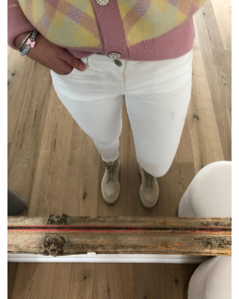 Luna jeans white